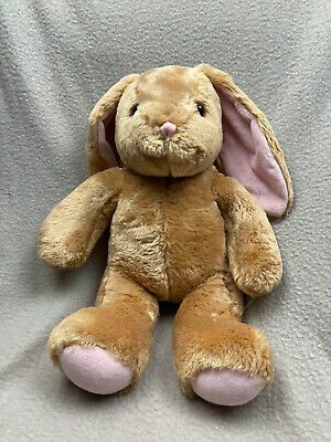 £8.95 • Buy Build A Bear Bunny With BAB Badge On Paw Brown Pink Ears