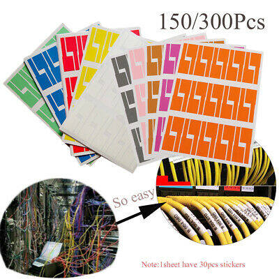 Network Wire Stickers Identification Tags Cable Labels Fiber Organizers • 5.45£