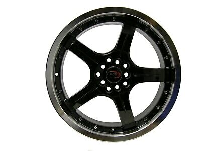 AU114.82 • Buy 18  Evoke F8 Style Alloy Wheels 5 Lug Pcd (100/114.3) Gloss Black  Single Piece