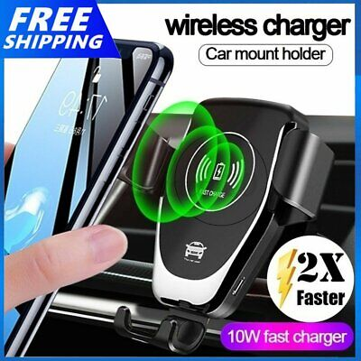 AU16.89 • Buy 10W Qi Wireless Fast Charger Car Holder Gravity Mount For IPhone X XS Max 12 Pro