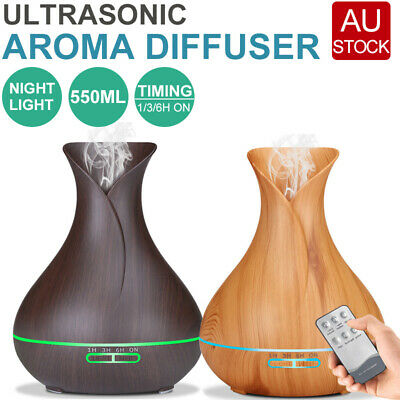 AU18.89 • Buy 550ML Aroma Aromatherapy Diffuser LED Oil Ultrasonic Air Humidifier Purifier AU
