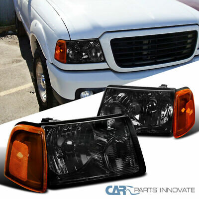 $45.95 • Buy 01-11 Ford Ranger Pickup Truck Smoke Headlights+Amber Lens Corner Lamps Pair