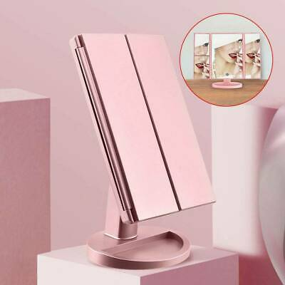 £12.24 • Buy NEW 22 LED Light Make Up Mirror Foldable Touch Screen Cosmetic Tabletop Vanity