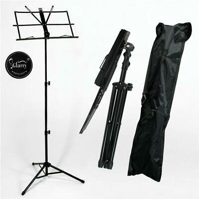 £6.88 • Buy New Glarry Folding Sheet Music Tripod Stand Holder Metal Portable With Carry Bag
