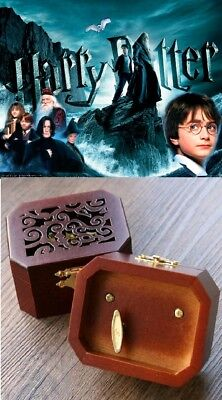 $ CDN23.20 • Buy WOODEN OCTAGON CARVING PATTERN MUSIC BOX ♫ Harry Potter Hedwigs Theme ♫