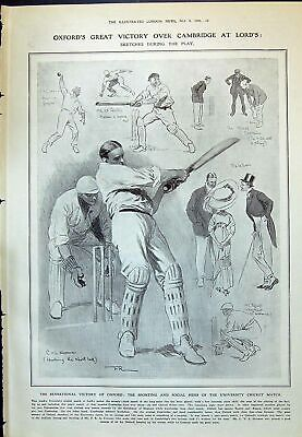 Old 1910 Oxford Cambridge Lords Cricket Sport Hooman Lockhart Couteur 20th • 20£