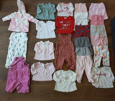 AU9.78 • Buy Massive Bundle Baby Girl 0-3 Months Clothes Outfits Jacket Tops Leggings