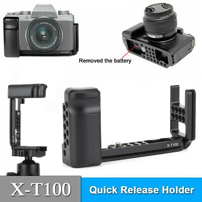 AU34.16 • Buy Alloy QR L Bracket Vertical Handle L Plate Grip For Fujifilm Fuji X-T100 XT100
