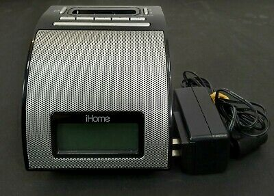 AU45.92 • Buy IHome MD-IH110B Black IPod IPhone Sound Alarm Clock Dock Station Player
