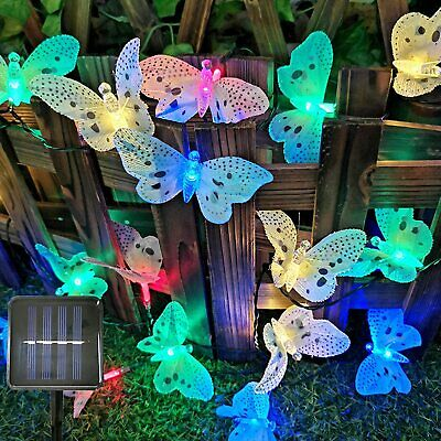 £8.99 • Buy Garden Solar Powered Butterfly Fairy String LED Lights Waterproof Party Outdoor