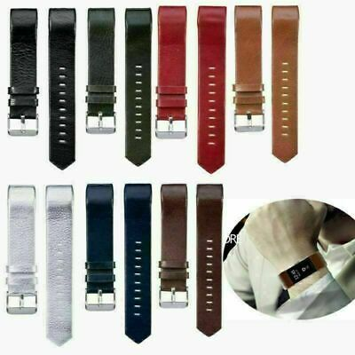 AU8.21 • Buy Leather Wristband Band Strap Belt Bracelet For Fitbit Charge 2 HR Tracker Watch