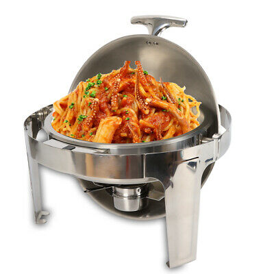 £68.05 • Buy 6.8L Food Warmers Stainless Chafing Dish Set Professional Buffet Round Roll Top