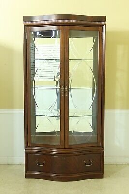 $1695 • Buy 51755EC: THOMASVILLE Mahogany Etched Glass Curio Display Cabinet