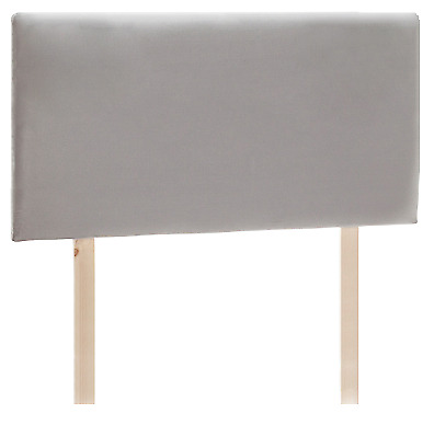 £75 • Buy Bed Headboard Grey Faux Suede - Strutted All Sizes Single Double King Super King