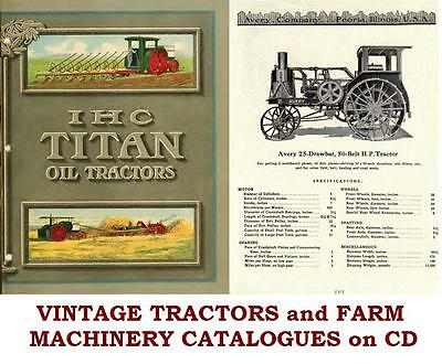 AU7.13 • Buy Tractors Farm Agriculture Machinery Implements Ploughs Vintage Books On CD