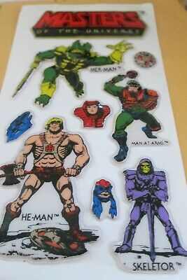 $7.50 • Buy NOC- 8 Masters Of The Universe Puffy Stickers Set.-1982 Blank Back