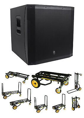 $1074.95 • Buy Mackie SRM1850 1600W 18  Powered Active Pro Subwoofer Sub + Transport Cart