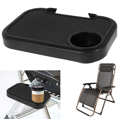 £5.99 • Buy Sun Lounger Table Cup Holder Zero Gravity Recliner Camping Chair Clip Side Tray