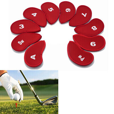AU10.82 • Buy Golf Clubs Head Covers PU Leather Golf Iron Pole Putter Headcover Set