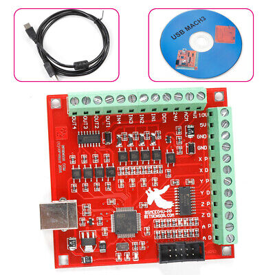 $35.03 • Buy 4Axis Smooth Stepper Motion Controller Driver Card USB Interface Board CNC MACH3