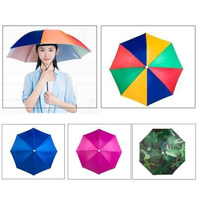 AU5.63 • Buy Umbrella Hat Outdoor Fishing Protection Gardening Hands Free Folding Headwear