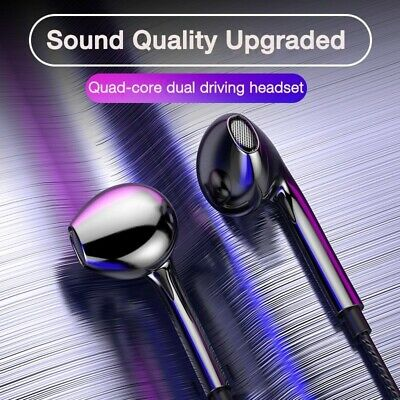 $ CDN1.57 • Buy Wired Headphones 3.5mm With Bass Earbuds Stereo Earphone Music Sport Headset Mic