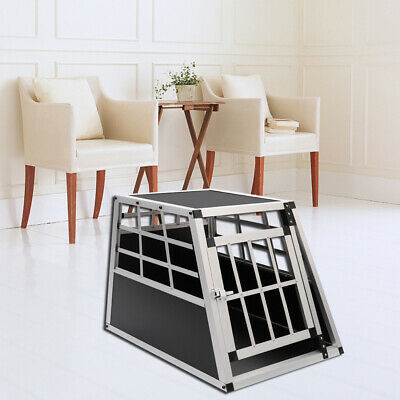 £89.95 • Buy Ventilated Dog Puppy Pet Cage Aluminium Travel Transport Crate Carrier Box
