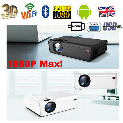 £113.99 • Buy 22000 Lumens Projector WiFi Android LED HD 1080P Home Theater Cinema HDMI USB AV