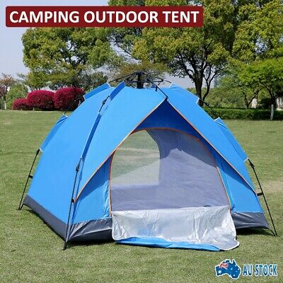 AU41.50 • Buy Camping Tent Waterproof Automatic Quick Open Camping Tent Outdoor 3-4 Person AU