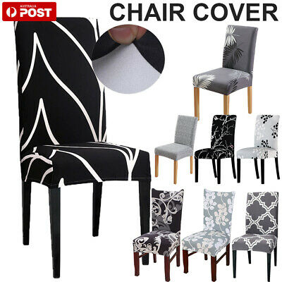 AU6.99 • Buy Stretch Dining Chair Covers Slipcover Spandex Wedding Cover 1/4/6/8Pcs Removable