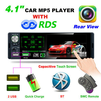 AU85.99 • Buy 4.1In Car Radio Stereo 1DIN Bluetooth FM USB AUX Audio MP5 Player With Camera