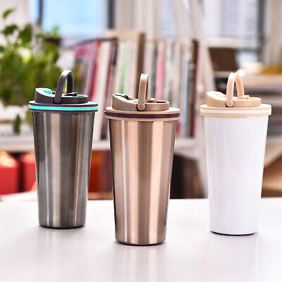 £11.29 • Buy Leakproof Travel Coffee Mug Cup Thermal Stainless Steel Flask Vacuum Insulated