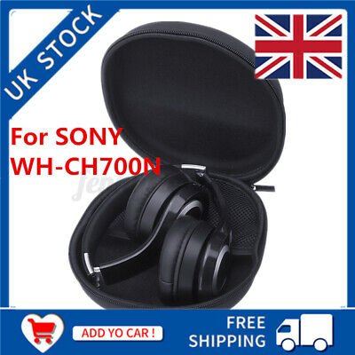 Portable Headphones Hard Case Cover Bag Box For SONY WH-CH700N Black NEW  U • 7.99£