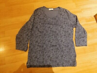 Cotswold Collection Blue 3/4 Length Sleeve Top  - Size M • 5£