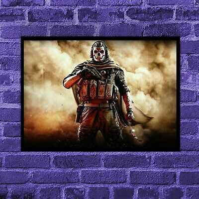 £7.99 • Buy Call Of Duty Warzone Ghost Wall Art Print On Satin Poster Paper