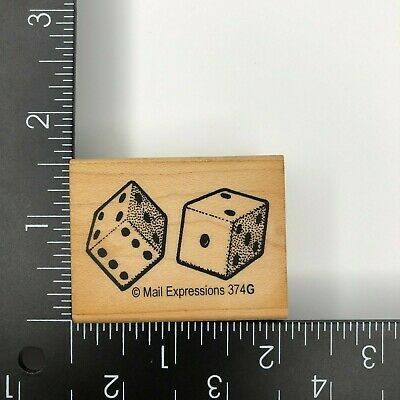 $7.19 • Buy Mail Expressions Dice Wood Mounted Rubber Stamp 374G Vegas Gambling Game