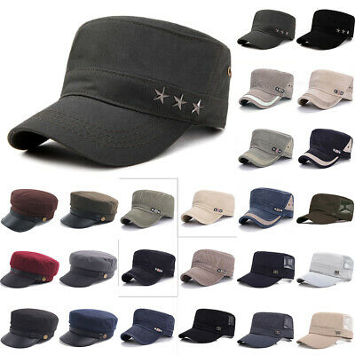 £8.49 • Buy Men Army Tactical Hat Cadet Combat Field Soldier Flat Cap Military  Style Patrol