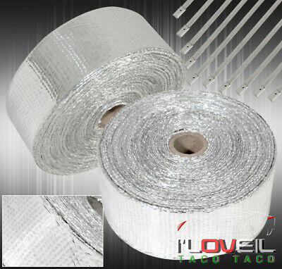 $ CDN43.73 • Buy 10M Air Intake Induction Thermal Cooling Heat Wrap Protection +Zip Ties Silver