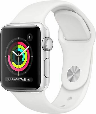 $ CDN288.76 • Buy Apple Watch Series 3 (GPS, 38mm) - Silver Aluminum Case With White Sport Band