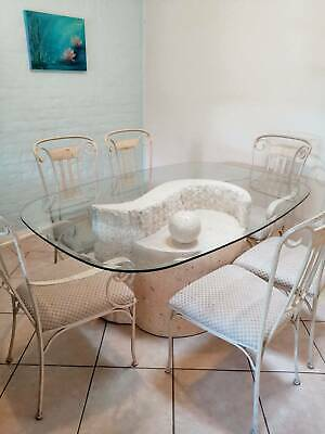 AU500 • Buy Fossil Stone Dining Table Set With 6 Chairs