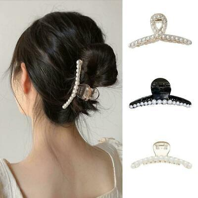 $ CDN3.61 • Buy Lovely Pearl Hair Claw Clip Big Size Hair Styling For Women K U Accessories U4E7