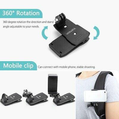 $ CDN12.96 • Buy GoPro 9 8 Accessories Backpack Clip Clamp Mount For Go Pro Hero 8 7 6 5 4  Yi 4K