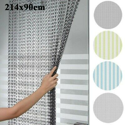 214x90CM Aluminum Door Curtain Metal Chain Fly Insect Blinds Screen Pest Control • 33.98£