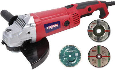 AU94.93 • Buy Duratool 230mm 9  Electric Angle Grinder 2000W 230V Disc Cutter