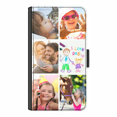 £8.99 • Buy Personalised Phone Case For  IPhone 13/12/11/XR Photo Collage PU Leather Cover