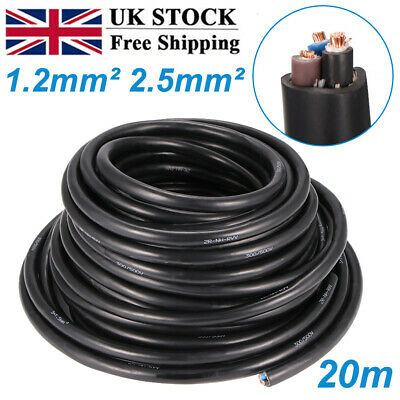 £11.99 • Buy 1.5mm/2.5mm 3 Core Cable Outdoor Underground Heavy Duty Nh-RVV3 Electrical Wire~