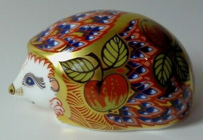 £79.99 • Buy Royal Crown Derby Orchard Hedgehog Paper Weight/Figure With 'Gold Stopper'