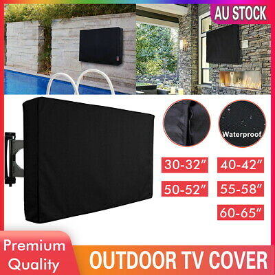 AU23.99 • Buy 30-65 Inch Dustproof Waterproof TV Cover Outdoor Patio Flat Television Protector