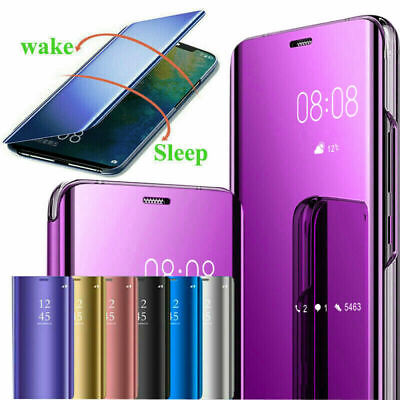 AU9.28 • Buy For Sony Xperia 5 II/10Plus/XZ5 Mirror View Flip Smart Leather Case Cover Stand