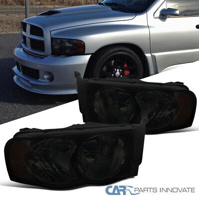 $37.95 • Buy For 02-05 Dodge Ram 1500 2500 3500 Euro Replacement Smoke Lens Headlights Lamps